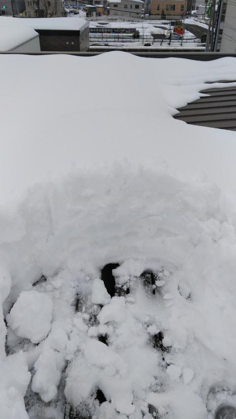 3月ですが積雪がありますね