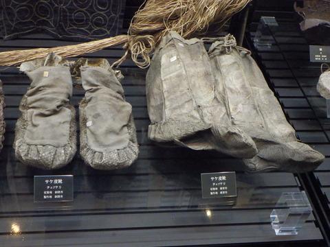 鮭の皮で作った靴だそうです