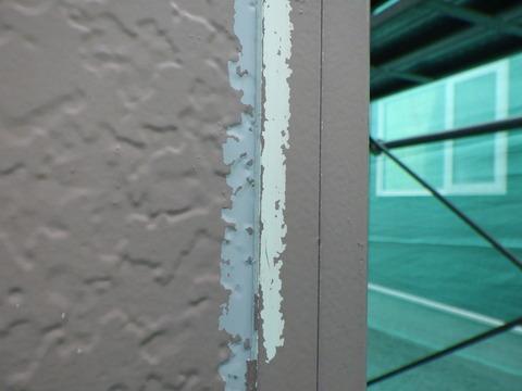 外壁端末シリコンシーリングの塗装が剥がれる
