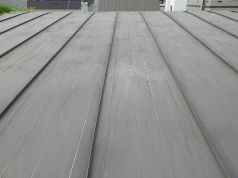 屋根全面を研磨処理