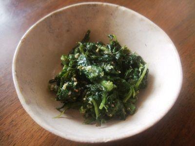 春菊の塩麹ナムル0001
