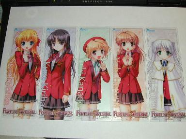 FORTUNE ARTERIAL しおり×5