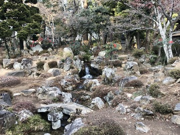 年末年始にお寺の庭園を見学