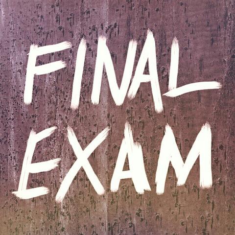 期末テスト期間です