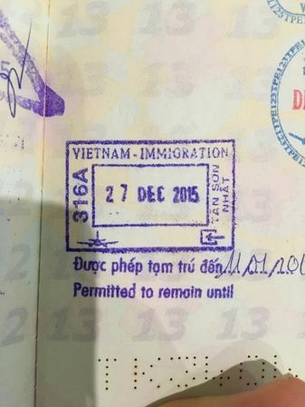 ベトナム入国