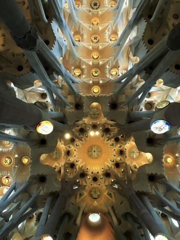 サグラダ・ファミリアの天井