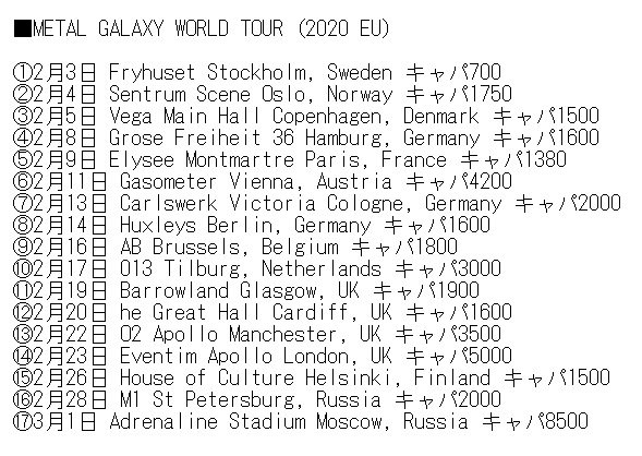 Babymetal Tour 2020.New Babymetal Metal Galaxy World Tour Wallpaper