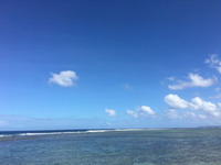 青い海ですね〜