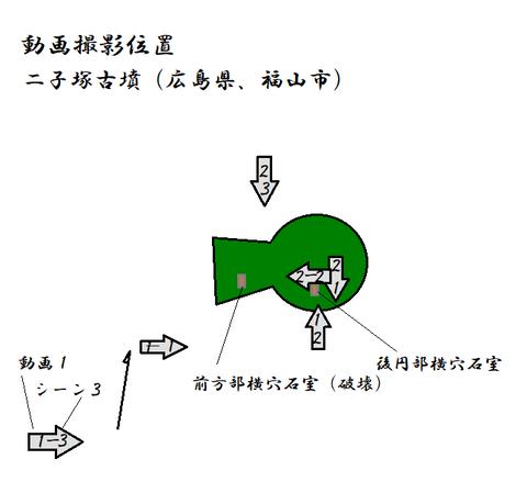 PNG futagozukakofun (fukuyamashi )動画撮影位置
