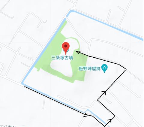 PNG 三条塚古墳 (富津市)21年6月15日作成