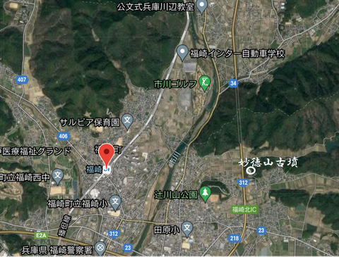 PNG 妙徳山古墳位置 福崎町 21年9月10日