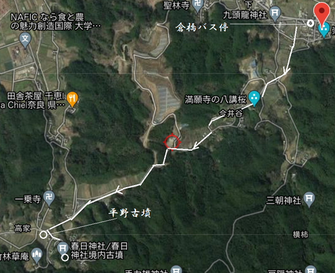 PNG 平野古墳と春日神社境内古墳ルート 21年7月2日作成