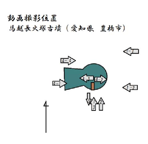 PNG 動画撮影位置 馬越長火塚古墳 (愛知)21年3月28日作成