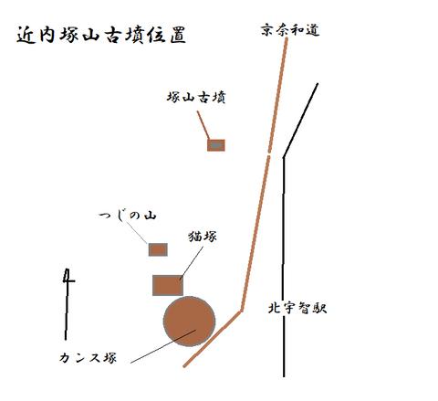 PNG chikauchitsukayama kofunn  map