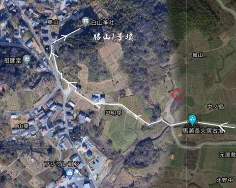 PNG 勝山1号墳 (愛知県)(豊橋市)所在地