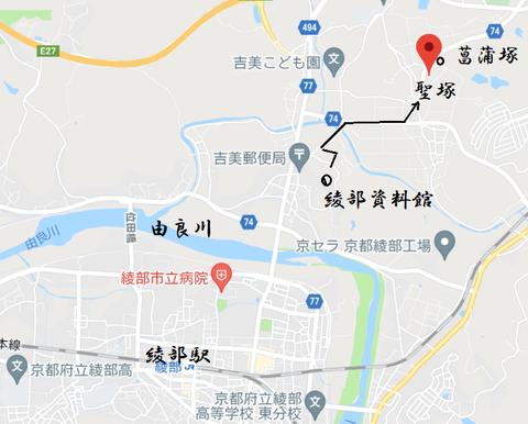 PNG 聖塚古墳と由良川 21年6月24日作成