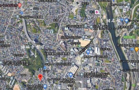 PNG 勝福寺古墳(川西市)(兵庫県)所在地