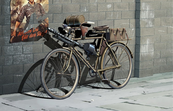 Masterbox 35165 The German military bicycle, WW II era  (1)