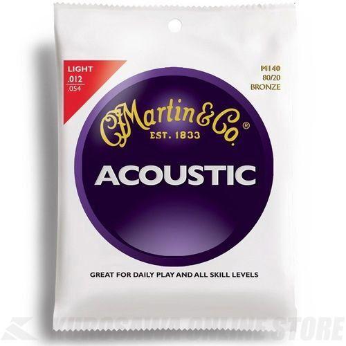 Martin アコースティックギター弦 ACOUSTIC (80/20 Bronze) M-140 Light .012-.054