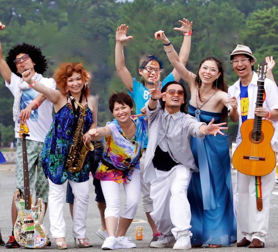 音泉タウン音楽会サルサ PINPINITA LIVE@別府駅前広場