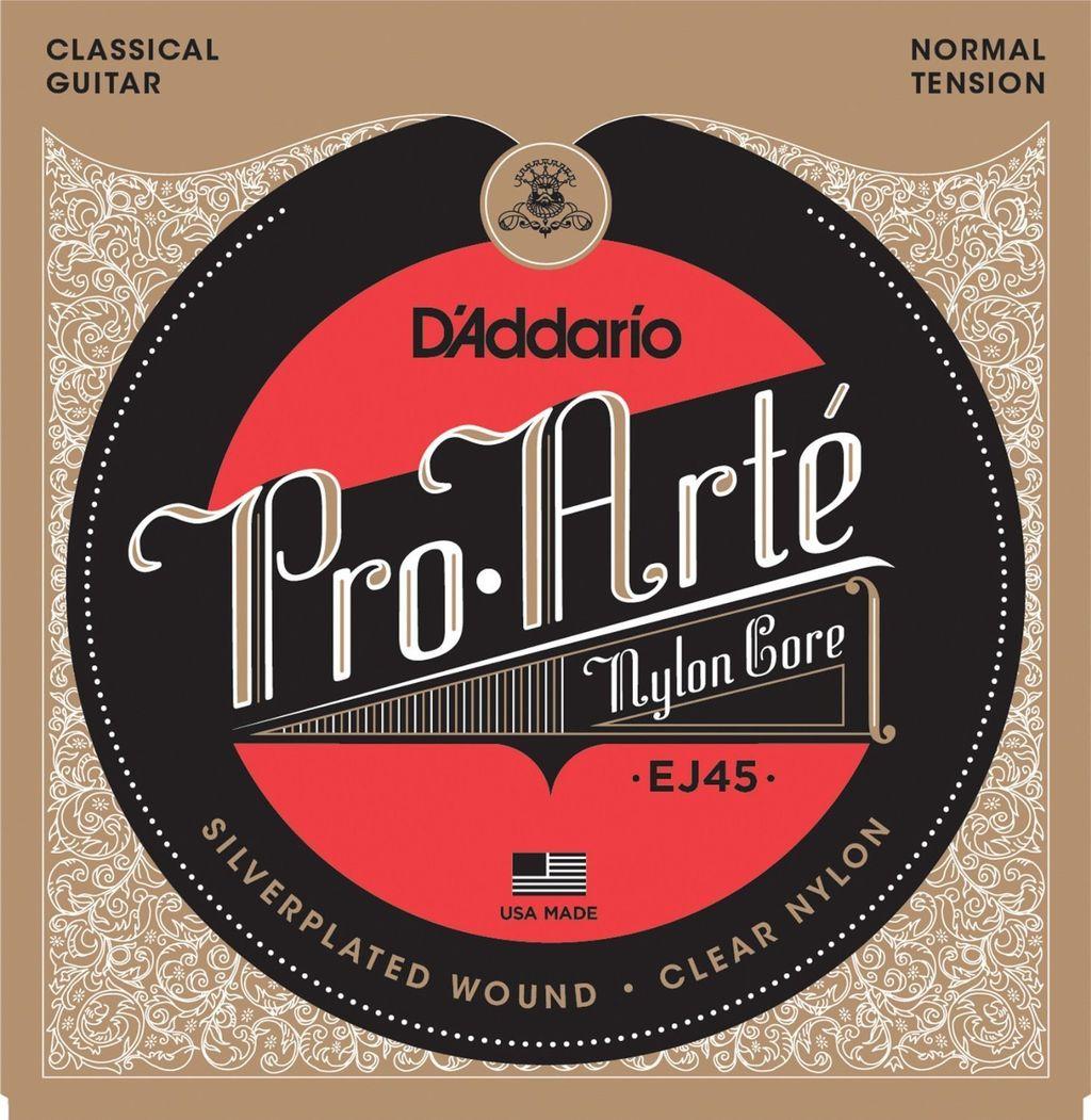 D'Addario EJ45 Pro-Arte Nylon Core Normal Tension(280-43) ダダリオ クラシックギター弦 EJ-45