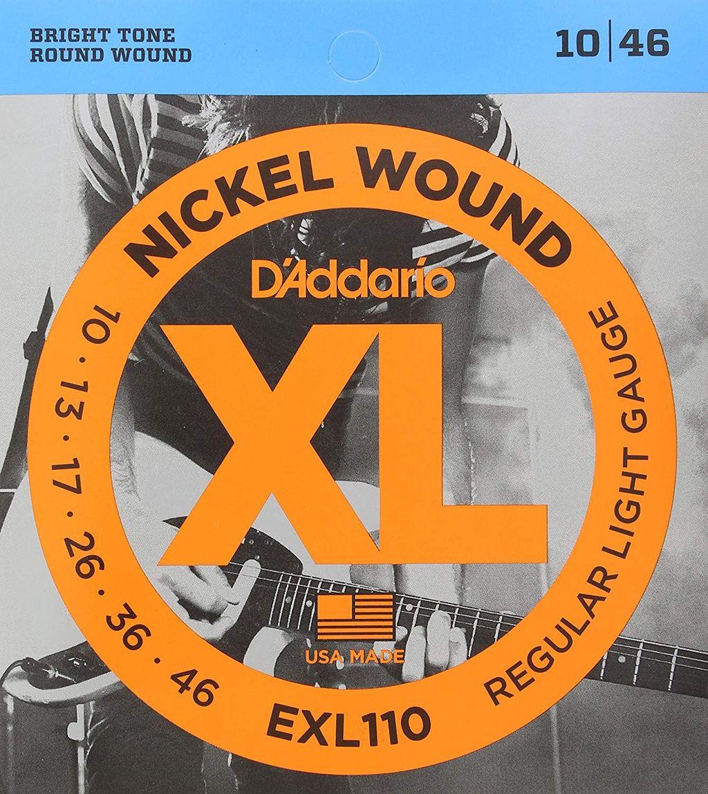D'Addario ダダリオ エレキギター弦 ニッケル Regular Light .010-.046 EXL110