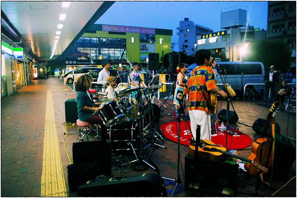 音泉タウン音楽会サルサ PINPINITA LIVE @ 別府駅前広場