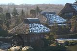 忍野村 藁葺き屋根の家