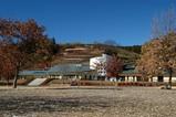 県立あいかわパークパークセンター望むセンターと上部は風の丘
