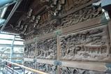 帝釈堂内陣外側の木彫