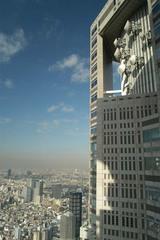 展望室より都庁最上階を見る