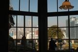 外交官の家からランドマークタワーが見えます