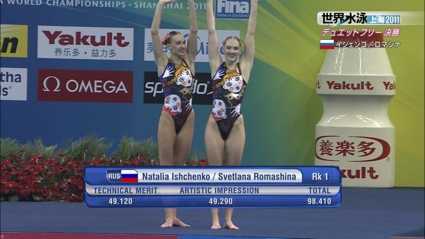 2011世界水泳シンクロデュエットフリー決勝24