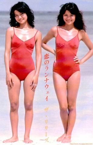 70年代アイドルデュオ ザ・リリーズ グラビア水着画像「36枚」