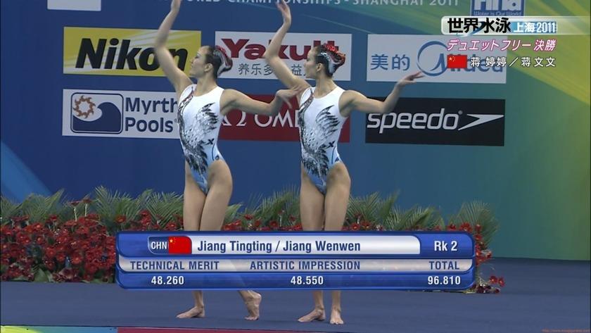 2011世界水泳シンクロデュエットフリー決勝42