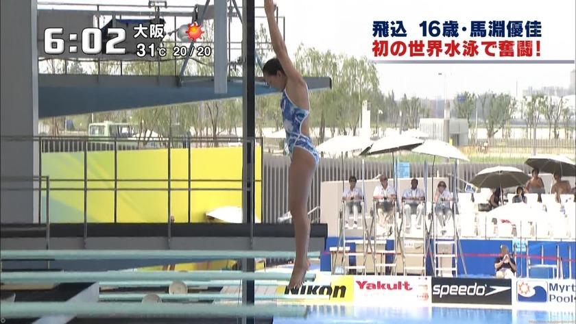 2011世界水泳 女子飛板飛込3M予選・準決勝5