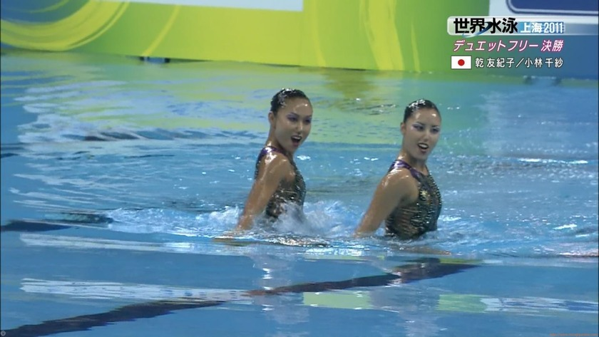 2011世界水泳シンクロデュエットフリー決勝54