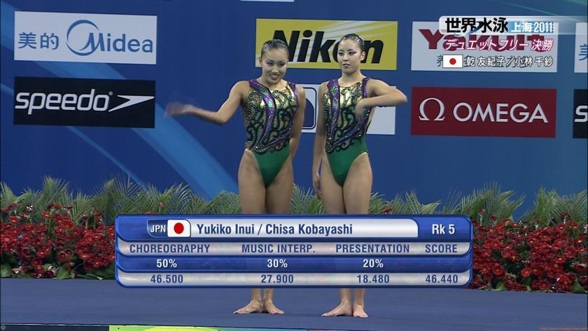 2011世界水泳シンクロデュエットフリー決勝65