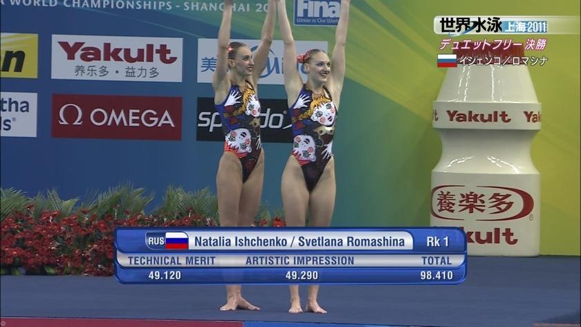 2011世界水泳シンクロデュエットフリー決勝25