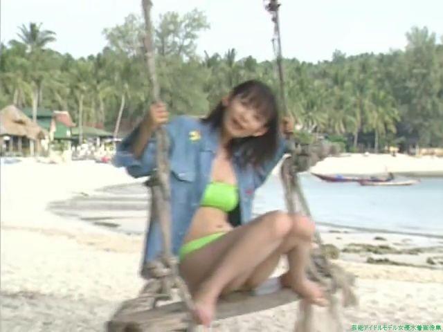 中川翔子 緑色のビキニ「33枚」