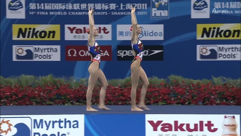 2011世界水泳 シンクロデュエットフリー決勝4