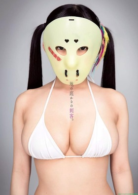 アイドル仮面女子,天木じゅんの白ビキニグラビア「12枚」