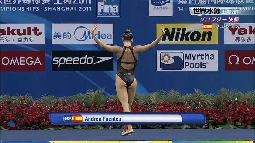 2011世界水泳 シンクロソロフリー決勝 競泳水着キャプチャー画像「12枚