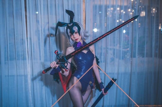 Fate/スカハ ブラックバニーガール 水着風衣装「16枚」