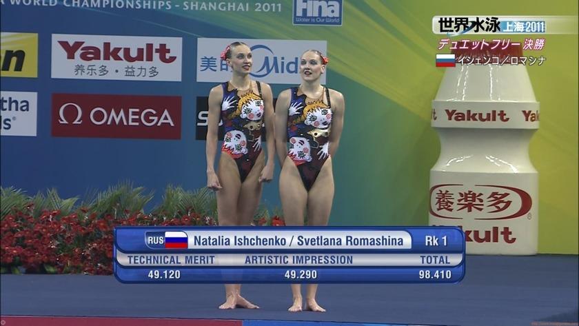 2011世界水泳シンクロデュエットフリー決勝23