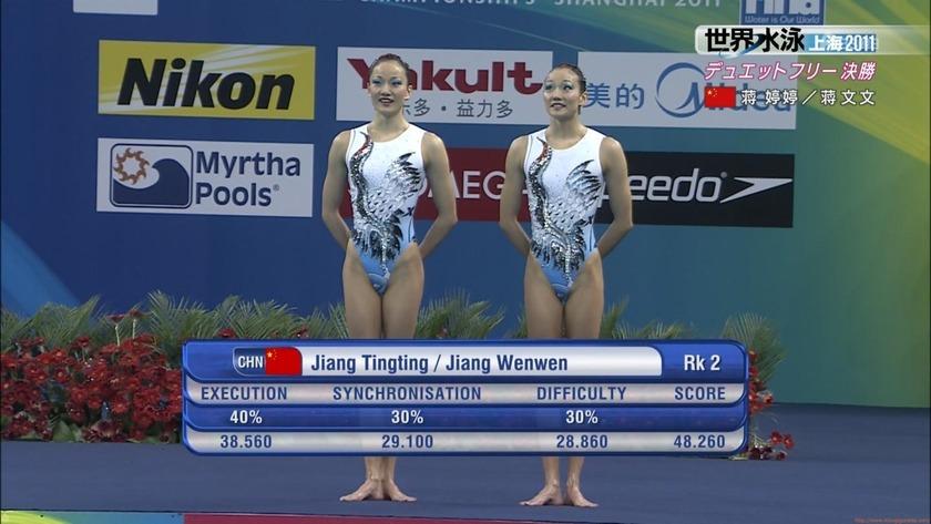 2011世界水泳シンクロデュエットフリー決勝40