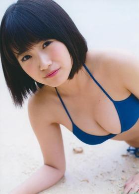 HKT48の巨乳アイドル朝長美桜水着グラビア「75枚」画像まとめ