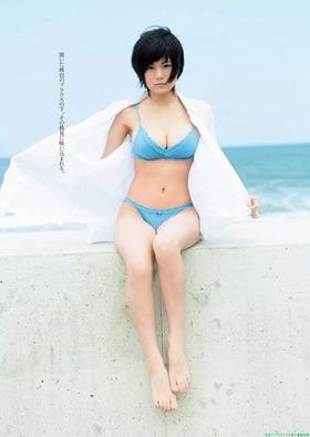 女子高生グラドルRaMu水着グラビア「25枚」画像 ショートカット十身長148cm+Gカップ