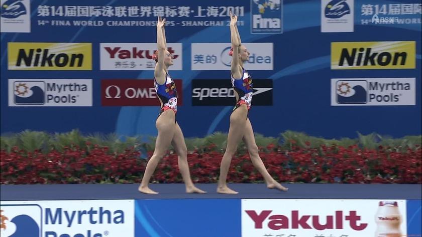 2011世界水泳 シンクロデュエットフリー決勝5
