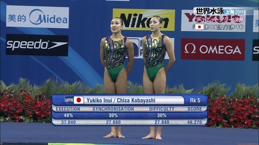 2011世界水泳シンクロデュエットフリー決勝64